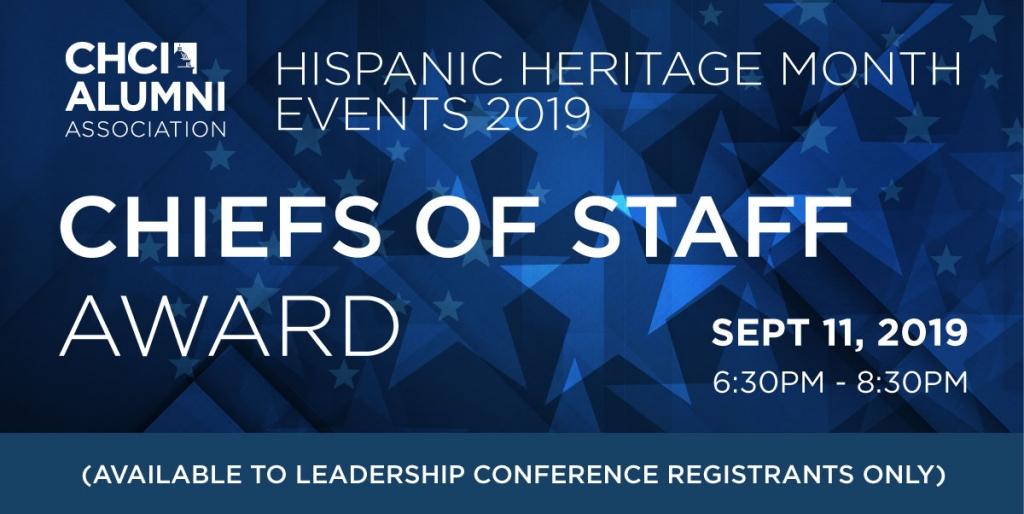 Chiefs of Staff Award Event Information